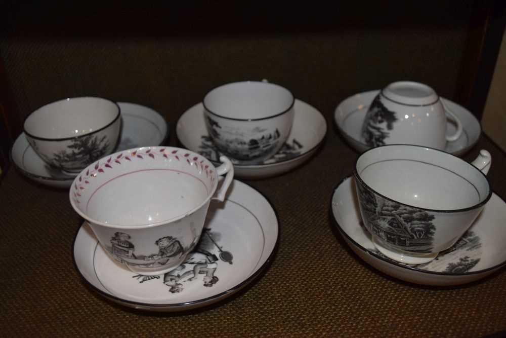 Quantity of late 18th Century / early 19th Century tea ware - Image 4 of 6