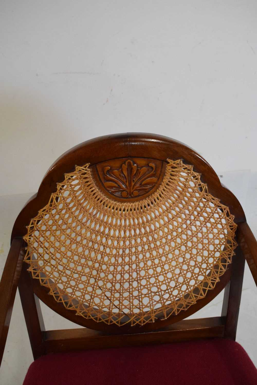 1920's mahogany and cane bergere chair - Image 2 of 5
