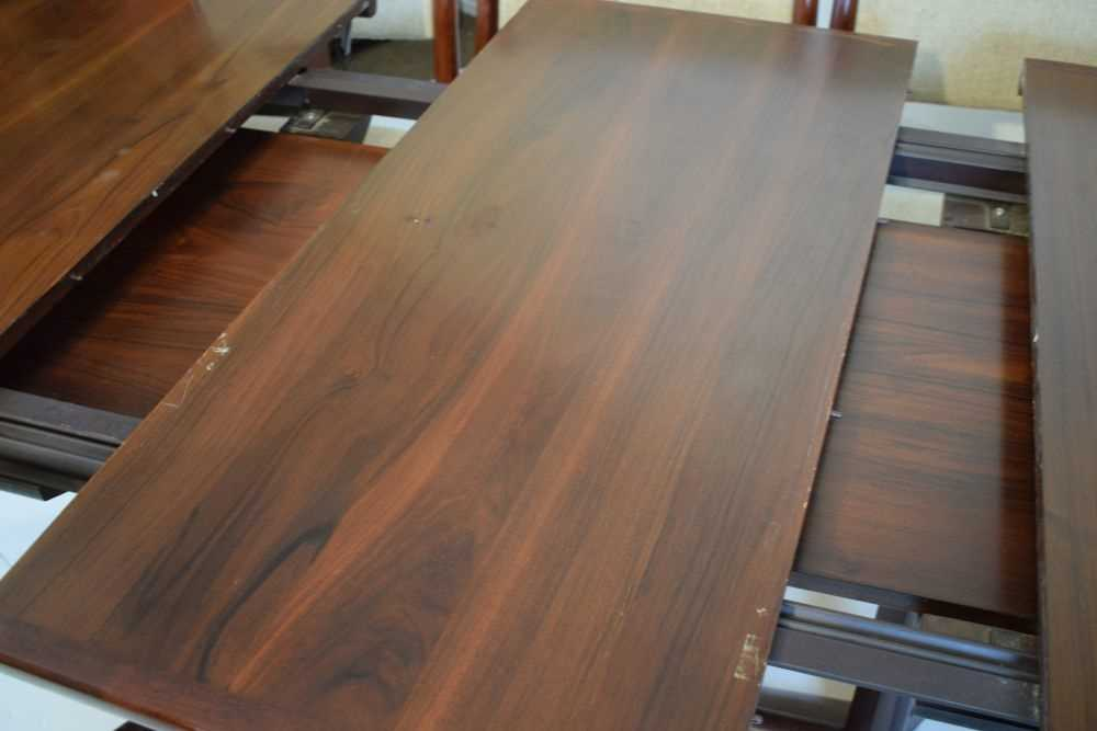 Skovby dining table and 6 chairs - Image 4 of 8