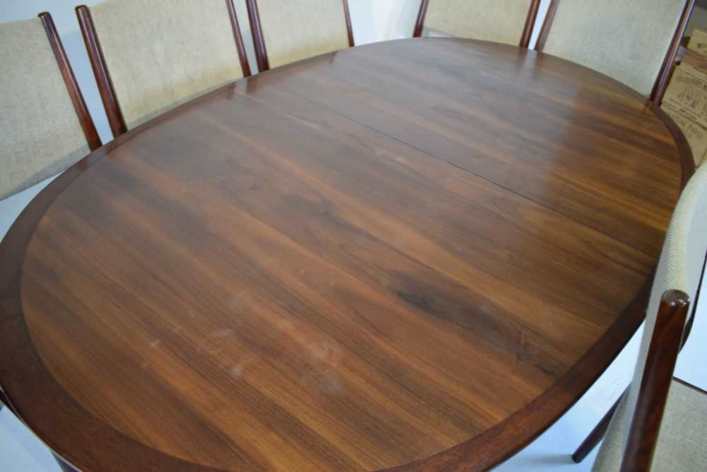 Skovby dining table and 6 chairs - Image 3 of 8