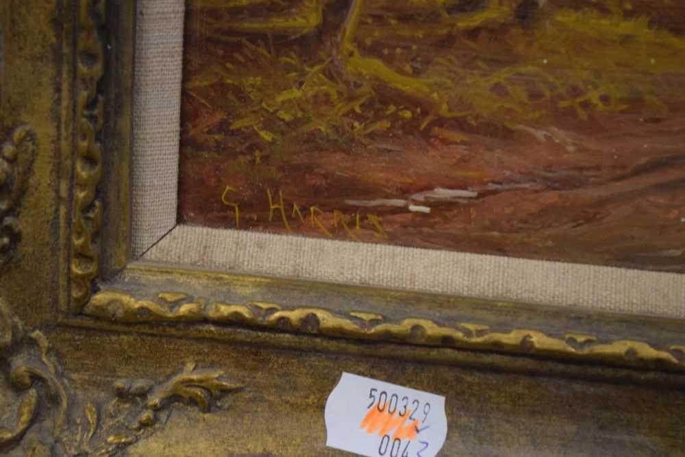 George Harris - Pair of oils on board - Image 3 of 10