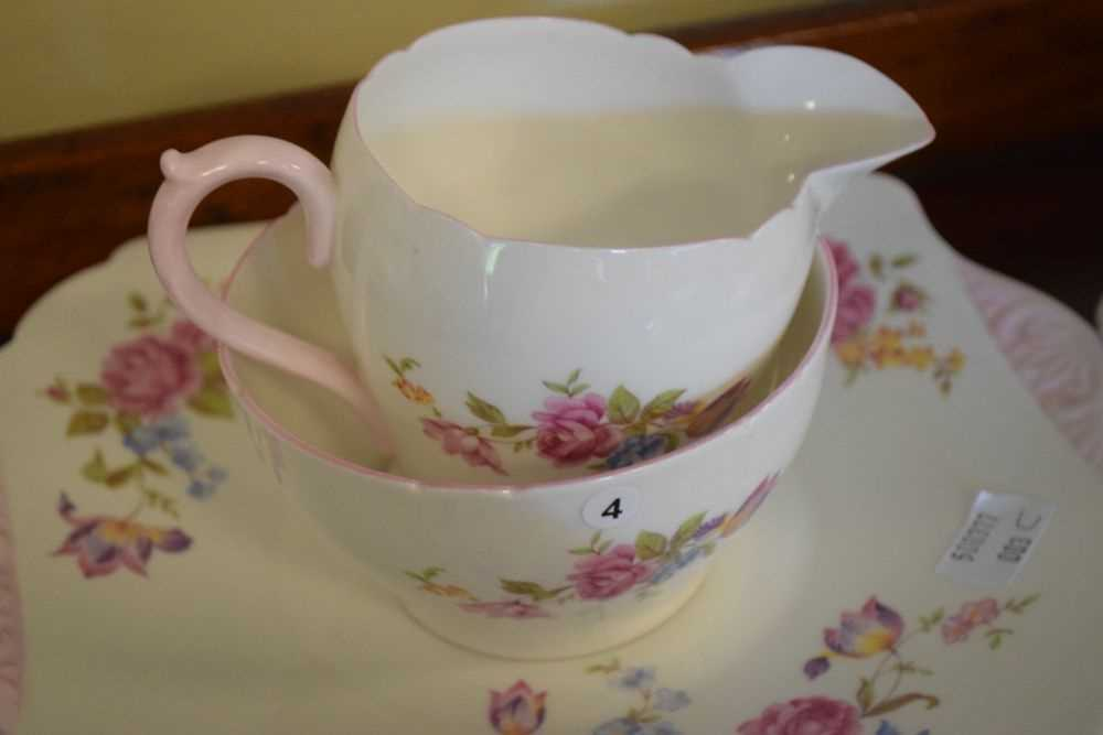 Shelley bone china floral decorated teawares - Image 2 of 5