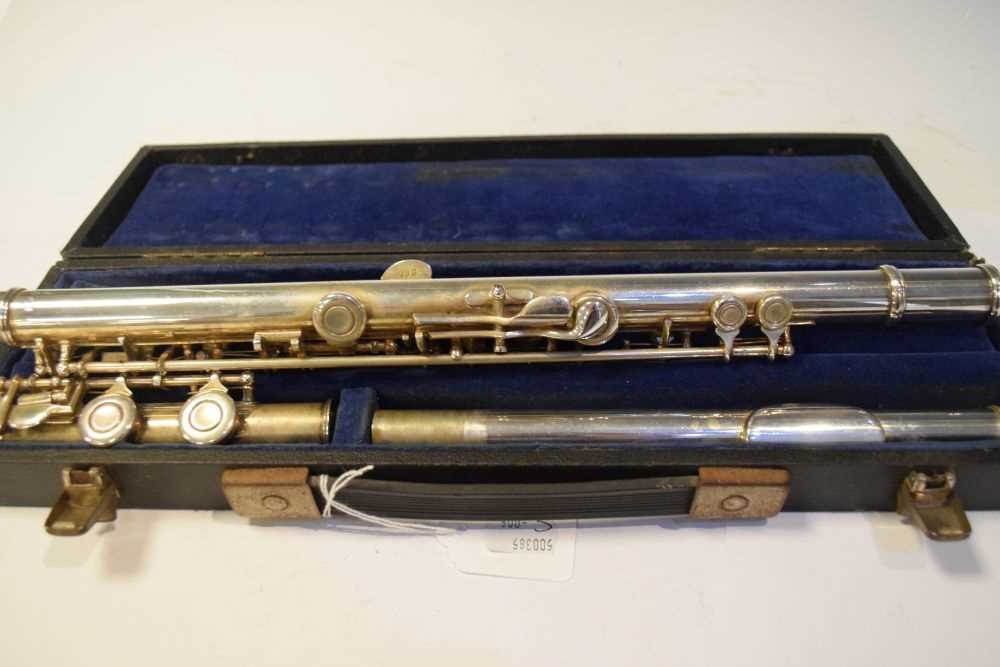 Cased nickel plated flute by Rampone & Cazzani, Milan - Image 4 of 5
