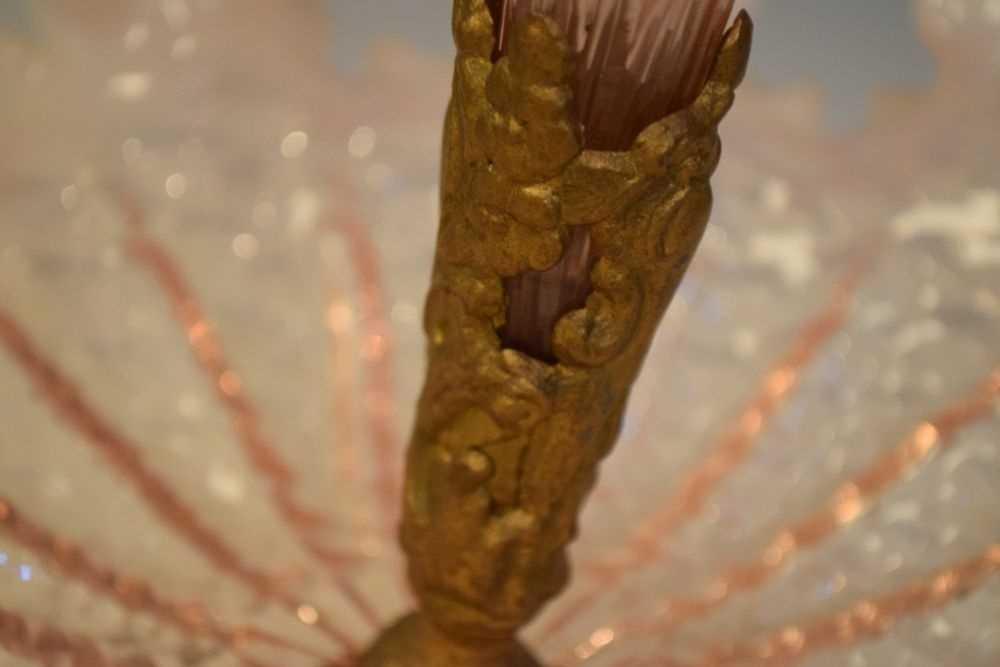 Vaseline glass epergne - Image 2 of 4