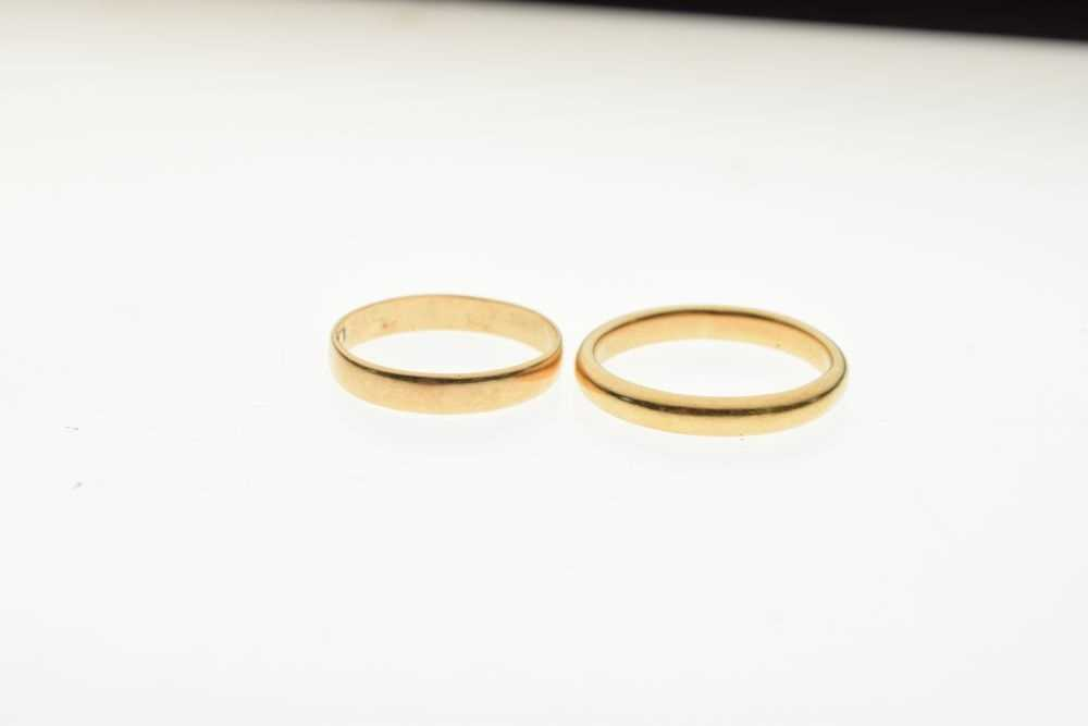 Two 22ct gold wedding bands, 6.5g gross - Image 3 of 3