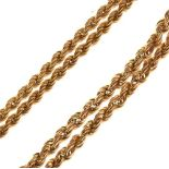 9ct gold rope-link necklace