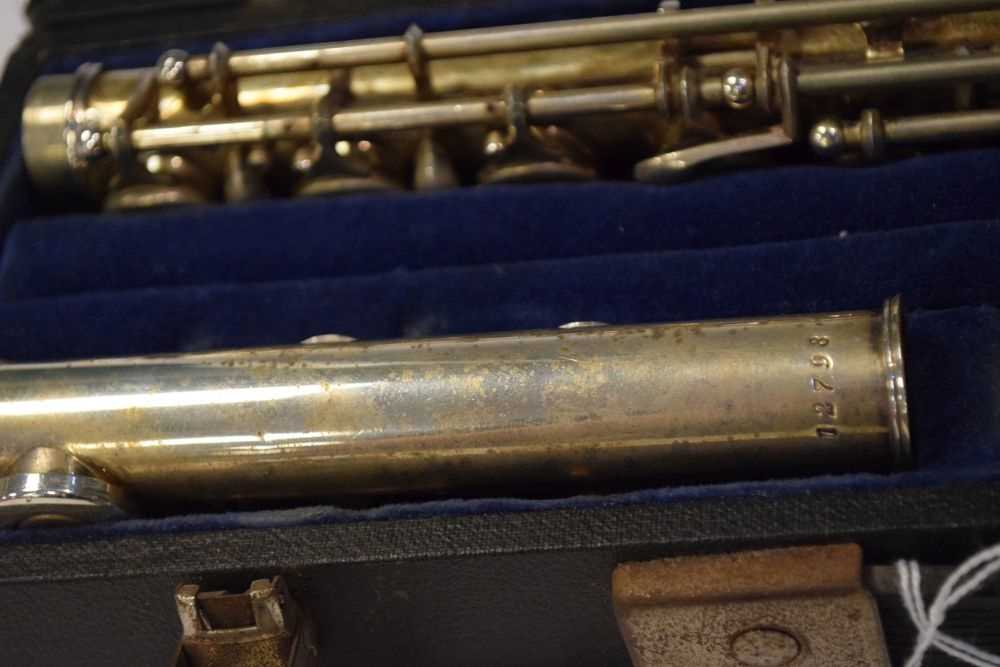 Cased nickel plated flute by Rampone & Cazzani, Milan - Image 5 of 5