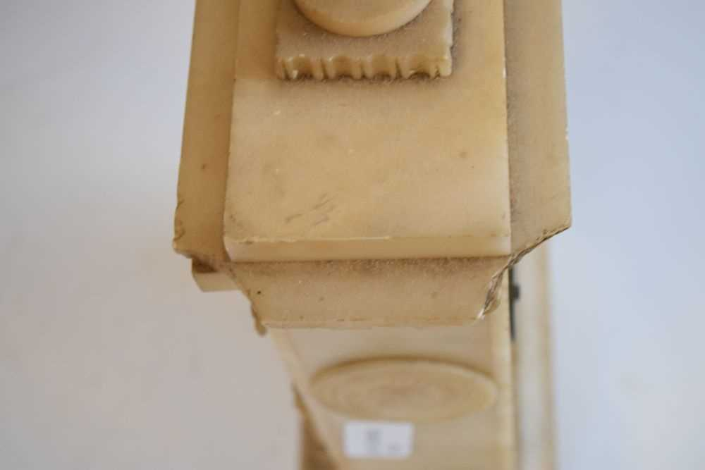 19th Century French alabaster mantel clock, Hodgkins & Co, Paris, No. 7138 - Image 12 of 12