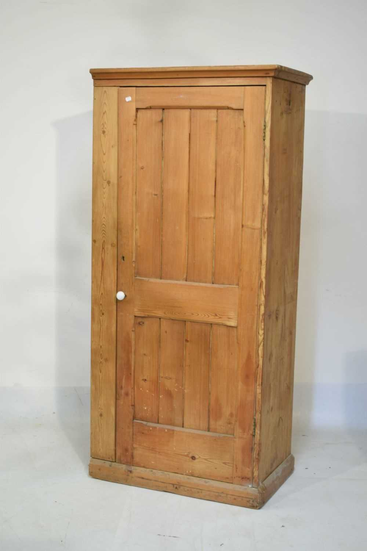 Pitch pine hall wardrobe - Image 2 of 6
