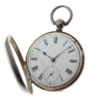 19th Century silver open-face pocket watch