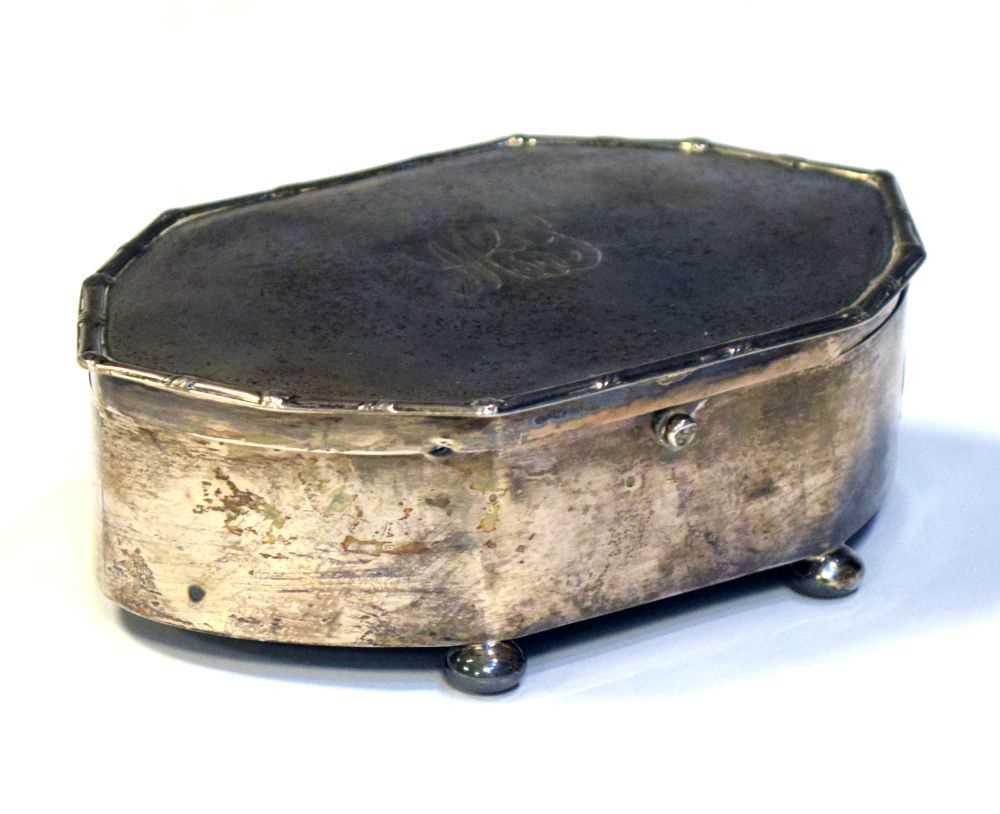 George VI silver dressing table box, Birmingham 1938