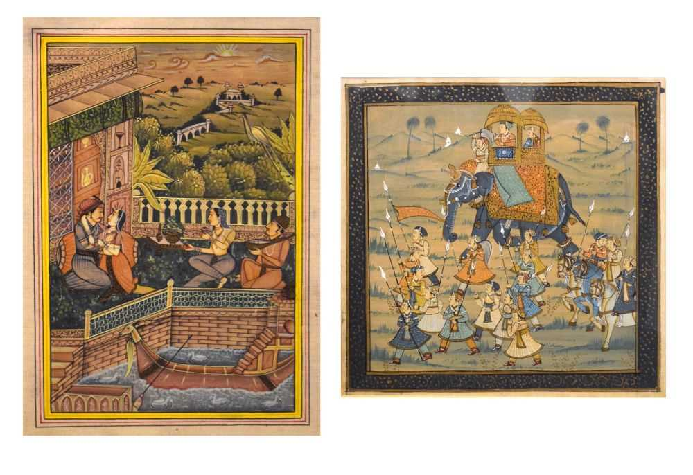 Two Indian watercolour studies