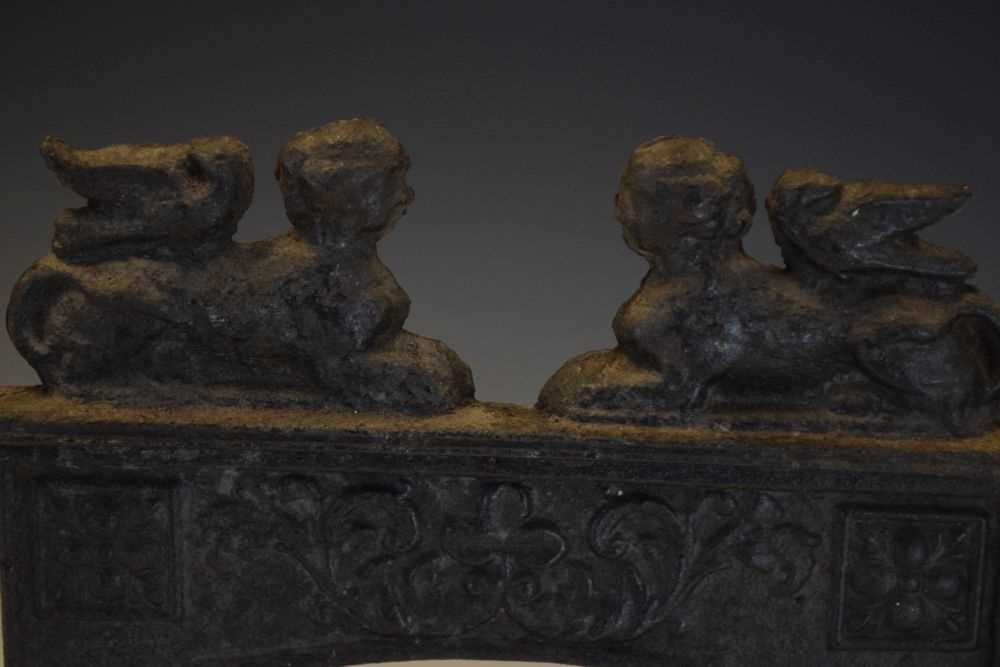 19th Century Salesman's sample miniature cast-iron fireplace - Image 2 of 4
