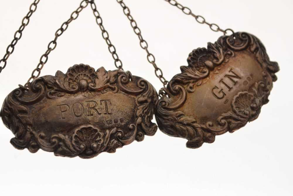 Four silver decanter labels - Image 3 of 4