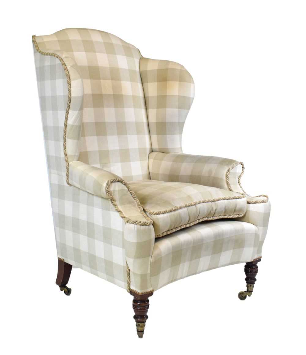 Attributed to Howard & Sons - Late 19th or early 20th Century wing armchair