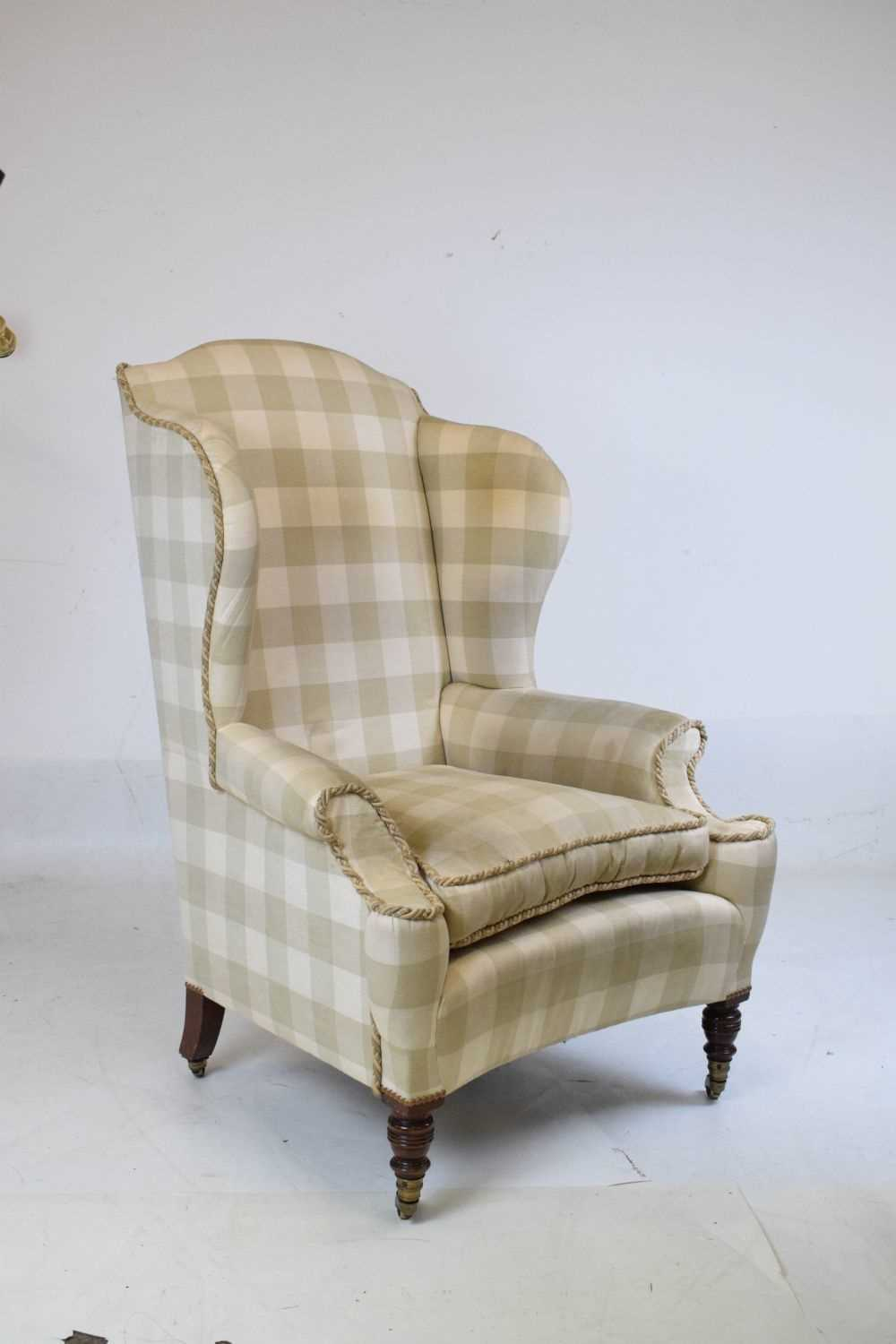 Attributed to Howard & Sons - Late 19th or early 20th Century wing armchair - Image 2 of 10