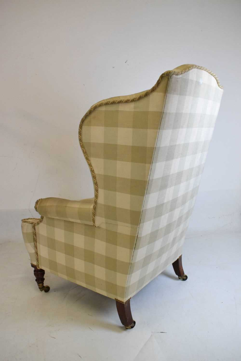 Attributed to Howard & Sons - Late 19th or early 20th Century wing armchair - Image 8 of 10