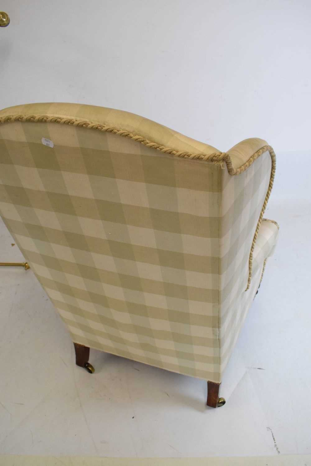 Attributed to Howard & Sons - Late 19th or early 20th Century wing armchair - Image 9 of 10