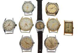 Assorted gentleman's wristwatches
