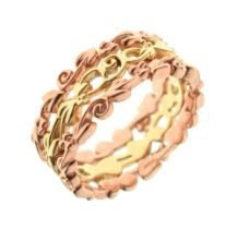 Clogau Welsh 9ct rose and yellow gold 'Tree of Life' ring