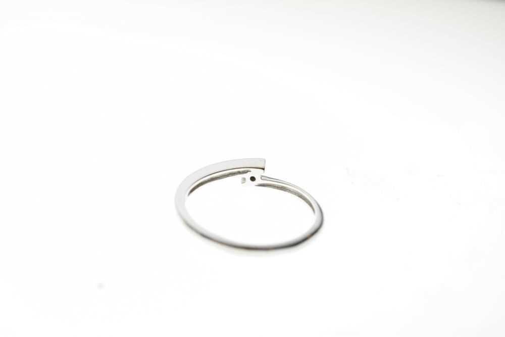 9ct white gold single stone ring - Image 4 of 6