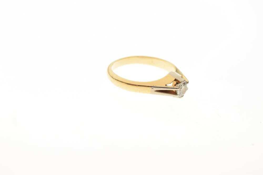 Single stone diamond ring - Image 5 of 5