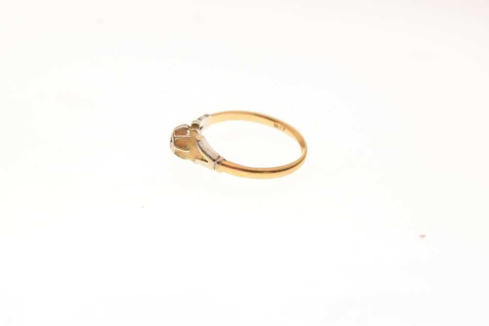 Single stone diamond ring - Image 3 of 6