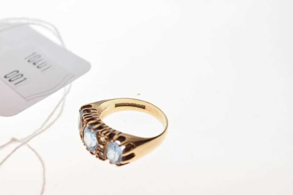 9ct gold stone-set ring - Image 6 of 6