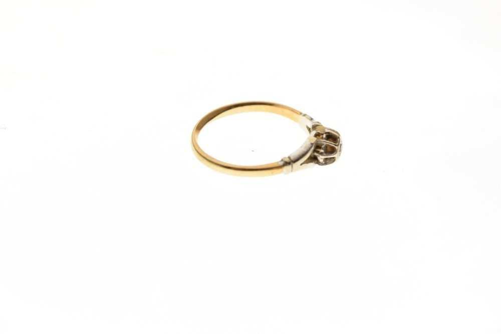Single stone diamond ring - Image 5 of 6