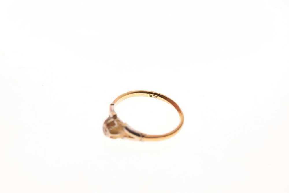 Single stone diamond ring - Image 6 of 6