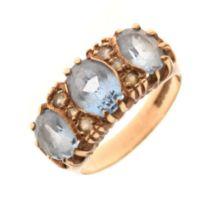 9ct gold stone-set ring