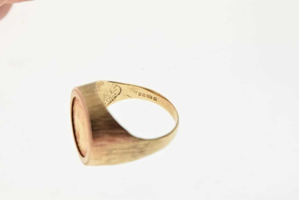 9ct gold ring inset with 1/10th Krugerrand coin - Image 6 of 6