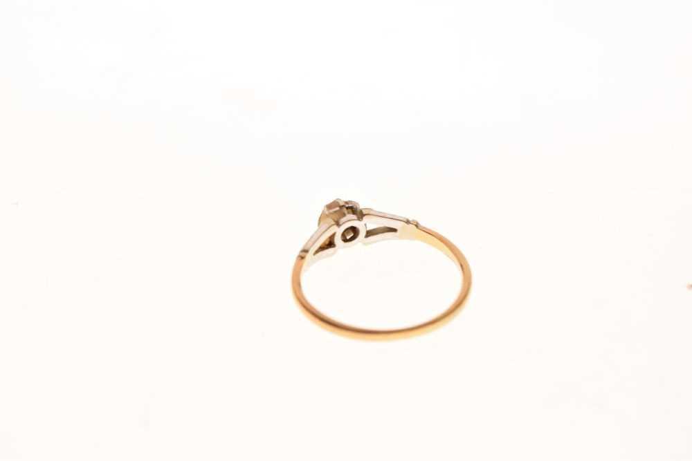 Single stone diamond ring - Image 4 of 6