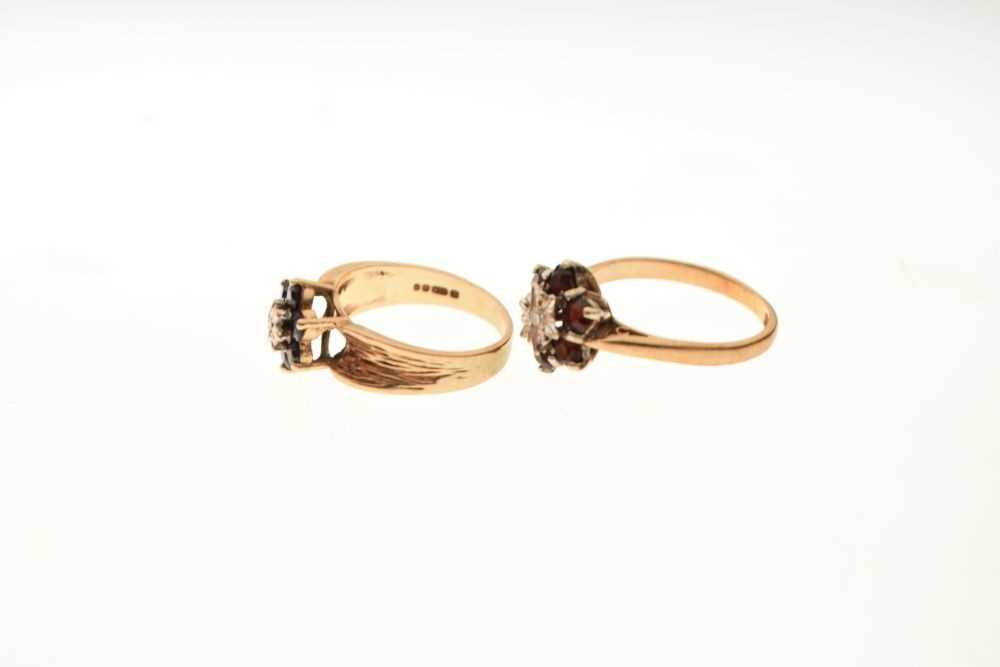 Two 9ct gold dress rings - Image 3 of 5
