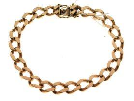9ct gold curb-link bracelet