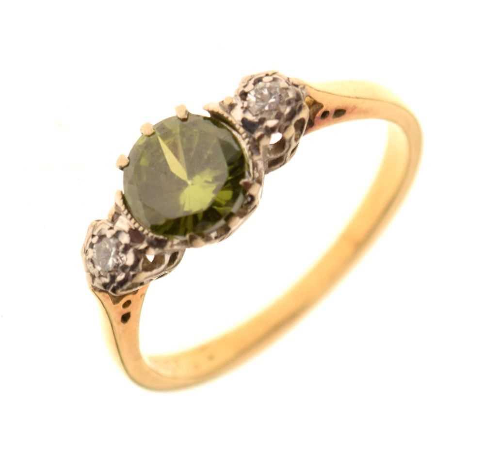 Three stone dress ring