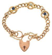 Gold curb-link bracelet