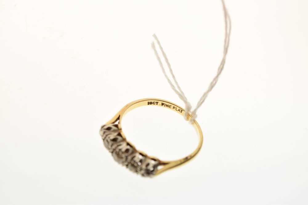 Five-stone diamond ring - Image 6 of 6