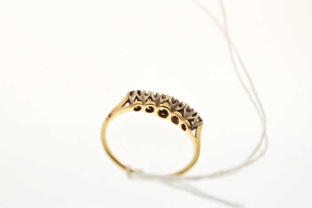 Five-stone diamond ring - Image 4 of 6