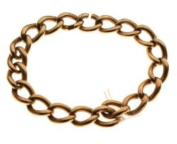 9ct gold heavy curb-link bracelet