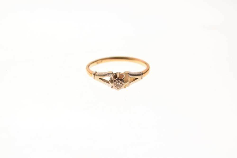 Single stone diamond ring - Image 2 of 6