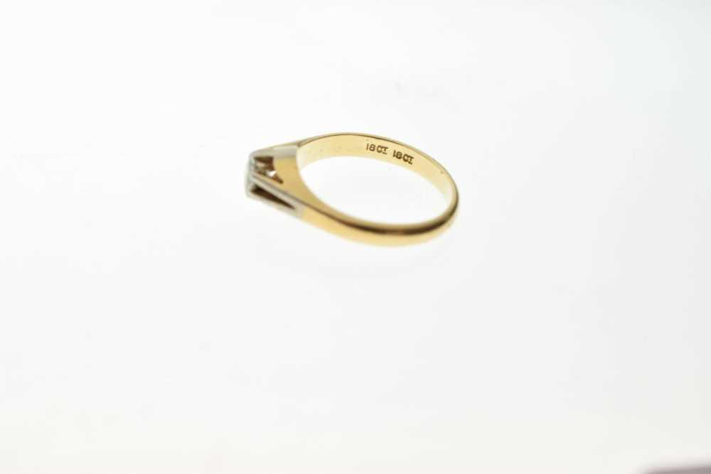 Single stone diamond ring - Image 3 of 5