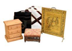 Magazine rack, fireguard, stool, mini chest, etc