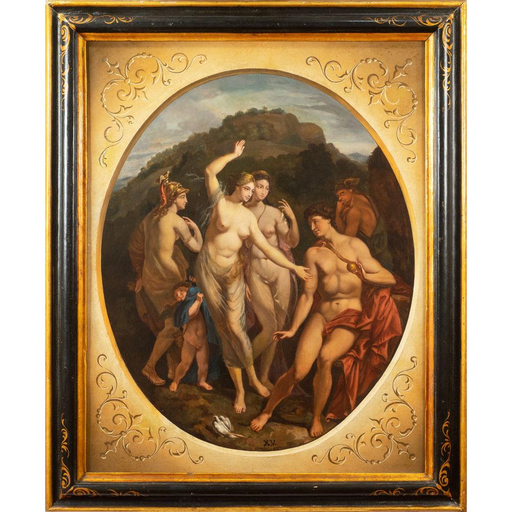 French painter 19th century 92x73 cm.