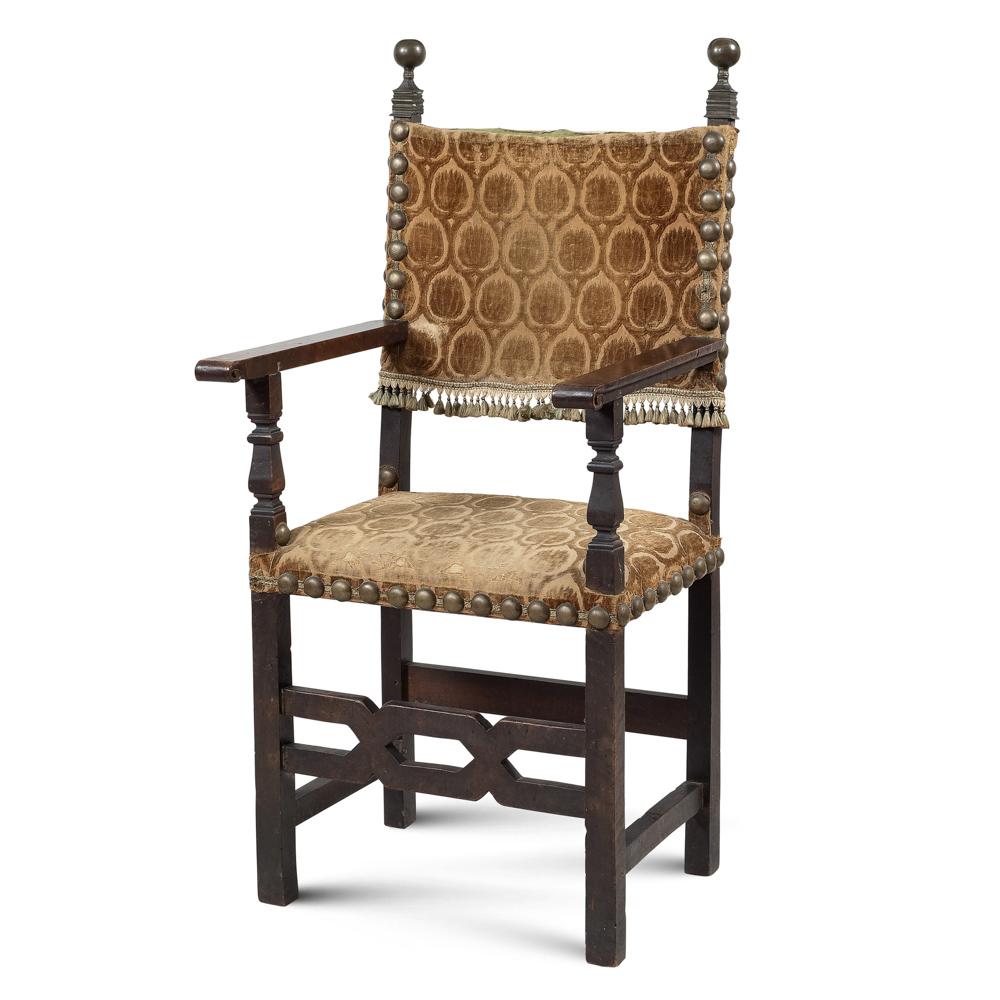 Renaissance style armchair Tuscany, 18th-19th century 128x61x53 cm.
