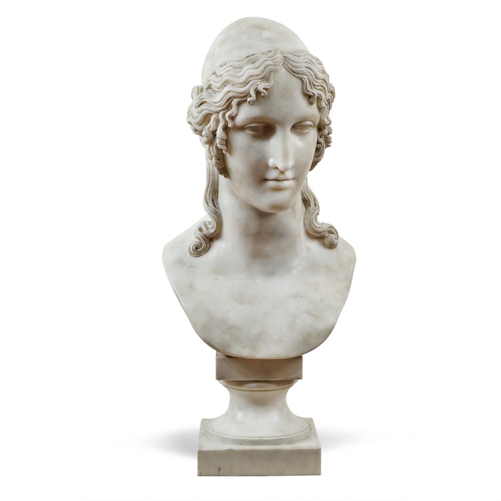 White marble sculpture 20th century 81x37x30 cm.