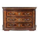 chest of drawers veneered in walnut Emilia, 18th century 100x170x64 cm.