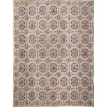 Embroidered Carpet Naples, 19th century 234x285 cm.