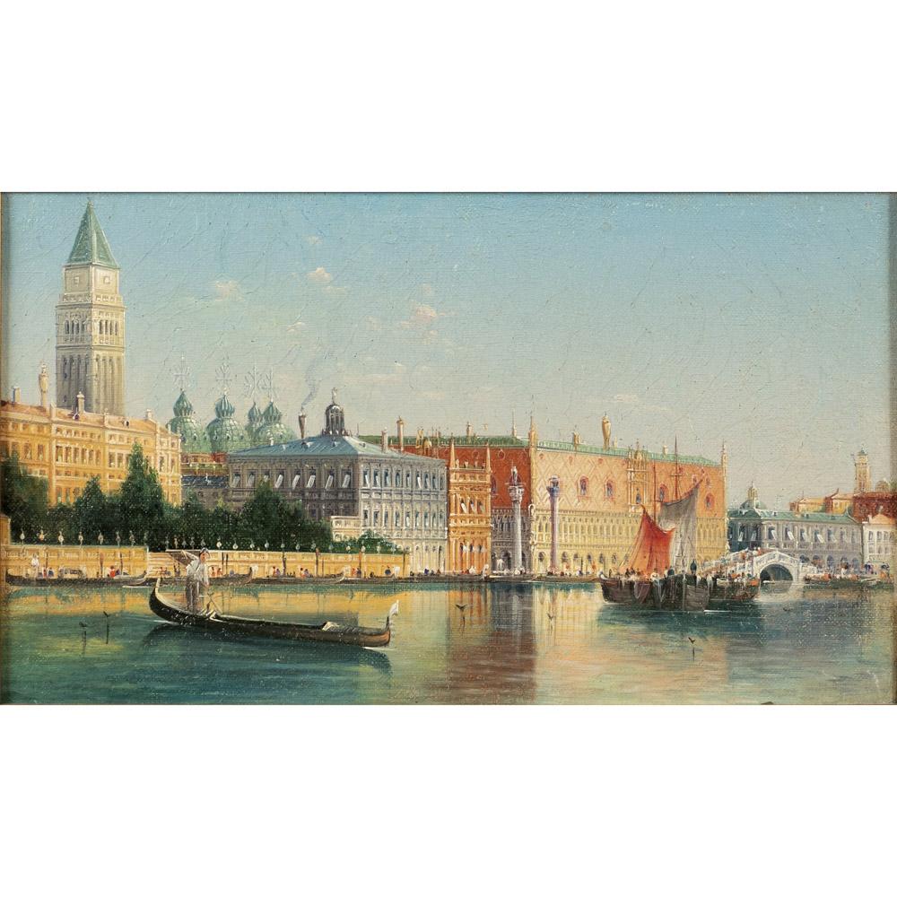 Italian painter 19th-20th century 19x32 cm.