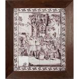 Majolica tiles panel Umbrian-Marchigian manufacture, 16th-17th century 13x13 cm. each - 78x66 cm.